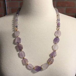 Jewelry - Lavender Stone/Glass Necklace | NWT